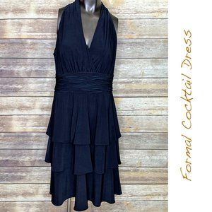 Evan Picone Formal Midi Cocktail Dress - Size 10